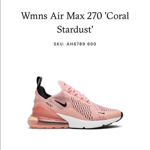 more photos 7c15d f5783 Nike Air Max 270 Coral Stardust